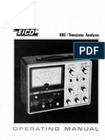 Eico 685 Operating Manual