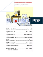 Prepositions of Place Exercises With Pictures