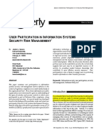 #6. User Participation in Information Systems Securitiy Risk Management