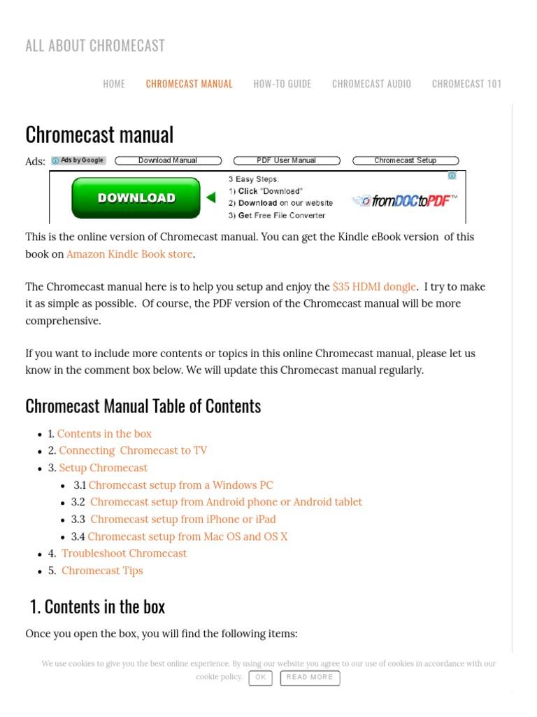 setup chromecast on pc