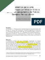 Epistemologia Jurídica - A Partir de Tersio Sampaio Ferraz Jr - Luiz Magno Bastos Junior