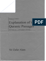Explanation of the Quranic Passages