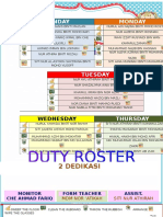 Duty Roster Form 2 Dedikasi