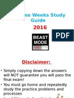 3rd Nine Weeks Study Guide 2016 Regular