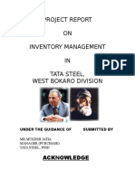 Project Report on Inventory Managment