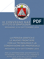 IX CONVEGNO NAZIONALE ISTITUTO DI GRAFOLOGIA FORENSE MESAGNE 2-3-4 SETTEMBRE 2016
