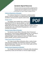 eld standards aligned resources