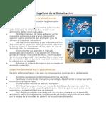Aspectos Positivos y Negativos de La Globalización