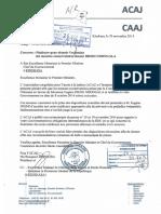 LETTRE DE TRANSMISSION DU COMMUNIQUE ACAJ  - AVEC ACCUSEE DE RECEPTION 19.11.14.pdf