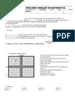 Td de Matemática Potenciação e notação cientifica
