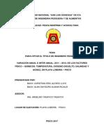 Tesis Pesca-Variacion Anual e Inter-Anual 2011-2013 de Los Factores Fisicoquimicos en Playa Loberia