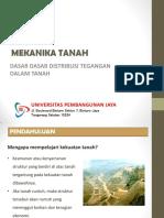 Slide Tsp204 Pertemuan 12 Dasar Dasar Distribusi Tegangan Dalam Tanah 2