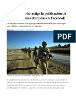 El Pentágono Investiga La Publicación de Fotos de Marines Desnudas en Facebook