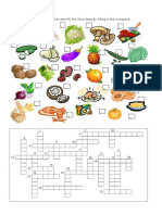 Food Crossword 2 Ano