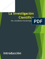 La Investigación Científica