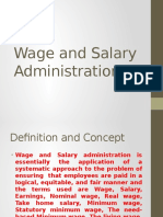 Wage and Salary Administartion