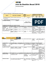 Informe Gestion Anual 2016