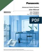 User Manual Panasonic TES824