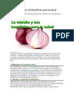 La Cebolla y Sus 19 Beneficios Para La Salud