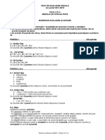 Test Predictiv - General - Barem Corectare - Cls Ix - A