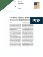 06/Marzo/2017 Fovissste Anuncia Liberación de 30,000 Financiamientos