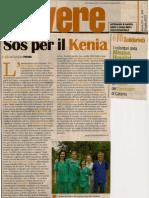 """Articolo """"Sos per il Kenya"""" di Giuseppe Petralia - Dal settimanale """"Vivere"""""""