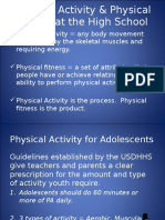 physical activity  fitness for moodle 2016