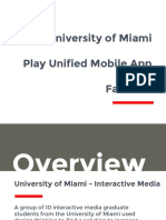 Play Unified App Presentation Fall 2016