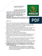 AMISOM Partners With Somali Government to Mark International Women's Day