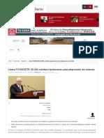 05/Marzo/2017 Libera FOVISSSTE 30,000 Créditos Hipotecarios Para Adquisición de Vivienda