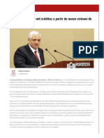 05/Marzo/2017 Fovissste Libera 30 Mil Créditos a Partir de Nuevo Sistema de Puntaje