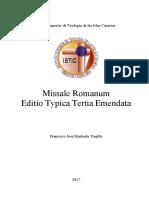Missale Romanum Editio Typica Tertia Emendata