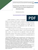 Reflexões sobre as consequências para o Poder Público da recusa do particular de executar obrigação contratual, decorridos noventa dias de inadimplemento da Administração Pública