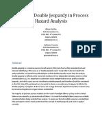 Managing Double Jeopardy in Process Hazard Analysis - Allison de Man