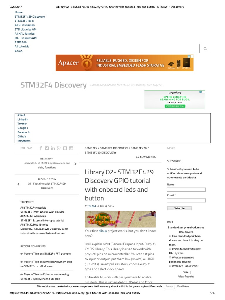 Stm32f429 libraries