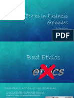 ethics in business examples