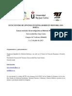 II ENCUENTRO JIHM Programa Definitivo