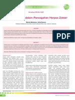 CME 241-Peran Vaksinasi Dalam Pencegahan Herpes Zoster
