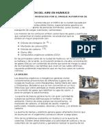 Contaminación Del Aire en Huánuco