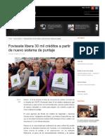 05/Marzo/2017 FOVISSSTE Libera Mil Créditos a Partir de Nuevo Sistema de Puntaje