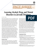 Assessing Alcohol, Drug, and Mental Disorders in Juvenile Detainees