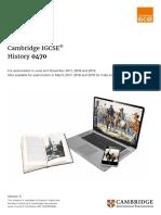 IGCSE History Syllabus 2017