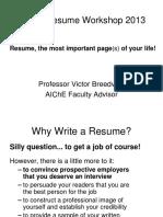 AICHE Resume Workshop 2013-1