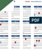 Calendario laboral 2017 Cataluña