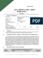Sílabo de Historia Crítica del Arte Peruano 2014-1 (Arturo Sulca).doc