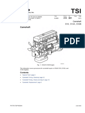 volvo-d12-workshop-manual-less-specifications-abby.pdf | Nut (Hardware) |  Bearing (Mechanical) | Volvo D12c Engine Diagram |  | Scribd