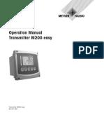 Manual Transmitter M200 Easy e 52121501 Sept09