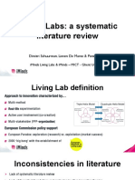 Living Labs a Systematic Literature Review