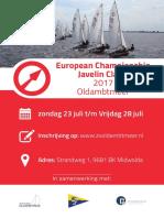 poster ek javelin 2017 oldambtmeer