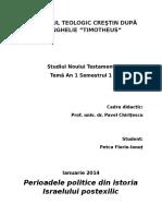 Noul Testament an 1.1 Perioadele Politice Din Istoria Israelului Postexilic